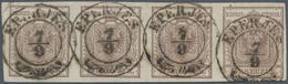 Österreich: 1850/54, 6 Kreuzer Braun, Type III, Auf Maschinenpapier, Entwertet Mit Klarem Abdruck De - 1850-1918 Empire