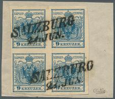 Österreich: 1850, 9 Kr Dunkelblau, Maschinenpapier Type IIIb, Farbfrischer, Ringsum Tadellos Voll- B - 1850-1918 Imperium