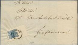 Österreich: 1850, 9 Kr Dunkelblau, Maschinenpapier Type IIIb, Ringsum Riesenrandiges (!) Oberrandstü - 1850-1918 Empire
