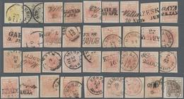 Österreich: 1850/1854 (ca.), Lot Von 67 Ausgesuchten Werten 1 Kr.-9 Kr. - 1850-1918 Empire