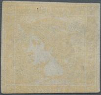 Österreich: 1851, GELBER MERKUR Ungebraucht O.G., Unten Im Rand Getroffen, Darüber Hinaus Dreiseitig - 1850-1918 Empire