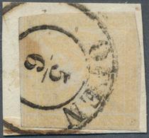 """Österreich: 1851, Zeitungsmarke 6 Kreuzer Braunorange, Type I B, Sogenannter """"GELBER MERKUR"""", Entwer - 1850-1918 Empire"""