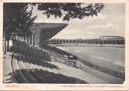 """ALTE  AK  DORTMUND / NRW  - Kampfbahn """"Rote Erde"""" & Westfalenhalle - Gelaufen 1940 Ca. - Dortmund"""
