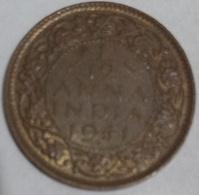 1941 British India 1/12 Anna Coin Circulated - India