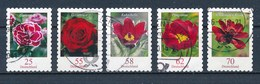 Bund Lot 5x Blumen Gestanzt Aus MH Gest. Nelke Rose Kuhschelle Pfingstrose Kosmee - Pflanzen Und Botanik