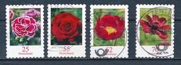 Bund Lot 4x Blumen Gestanzt Aus MH Gest. Nelke Rose Pfingstrose Kosmee - Pflanzen Und Botanik