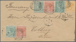 Ceylon / Sri Lanka: 1899/1905: Two Interesting And Attractive Covers From Colombo To Europe, With 18 - Sri Lanka (Ceylon) (1948-...)