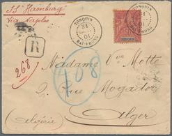 "Französisch-Indochina: 1901, Sage 50 C. Tied ""HAI-PHONG TONQUIN 31 JANV 01"" To Small Size Registered - Briefe U. Dokumente"