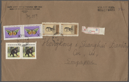 Vietnam, Soz. Republik (ab 1975): 1977 Two Airmail Covers, One Registered, From The Bank For Foreign - Vietnam