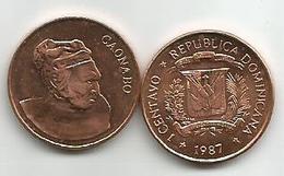Dominicana 1  Centavo 1987. KM#64 - Dominicaine