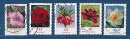 Bund Lot 5x Blumen Gezähnt Gest. Malve Rose Kaiserkrone Kosmee Narzisse - Pflanzen Und Botanik
