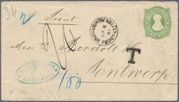 "Argentinien - Ganzsachen: 1881: ""SOUTHAMPTON PACKET LETTER AP 8 1881"" Ship Mail Cancellation On Arge - Ganzsachen"