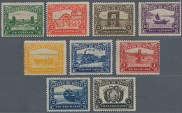 "Bolivien: 1914, 1 C. To 5 B., Cpl. Set Of 9 Unissued Stamps ""LANDS-CAPES"" Assigned For A Set ""100 YE - Bolivien"