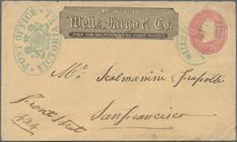 Canada - Britisch-Columbia Und Vancouverinsel: 1868 Appr., American 3 Cent Stationery Envelope With - Britisch Kolumbien & Vancouver