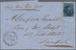 Canada - Colony Of Canada: 1856, 10 D Blue, Good To Large Margins, Tied By Target Cancel, Single Fra - Kanada