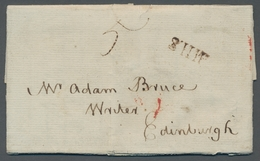 Neuschottland: 1787, Pre-philatelic Overseas Letter From Halifax, Nova Scotia To Edinburgh, Scotland - Neuschottland