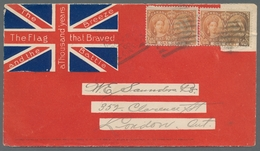 Canada: 1900, Patriotic Cover, Showing The Union Jack With Twice 1 Cent Jubilee Issue From Canada To - Kanada