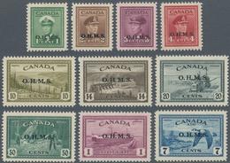 Canada - Dienstmarken: 1949/1950, KGVI Definitives With Black Opt. 'O.H.M.S.' Two Complete Sets Incl - Aufdrucksausgaben