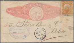 Honduras: 1890, 10 C Orange Seebeck (round Left Upper Corner, Few Stains) Tied On Illustrated Envelo - Honduras