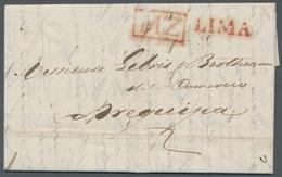 Peru: 1826, Attractive Pre-philatelic Letter With Full Content, Run Inside Peru From Lima To Arequip - Peru