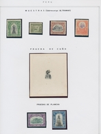 Peru: 1895-1921, Specialised Collection On Written-up Album Pages Ex Bustamante. Comprises Large Uni - Peru