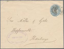 El Salvador - Ganzsachen: 1887 11 Centavos Blue Postal Stationery Envelope Without CONTAD MYOR On Fl - El Salvador