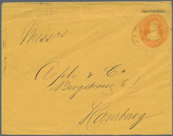 El Salvador - Ganzsachen: 1888 10 Centavos Showing PROVISIONAL Overprint, Postal Stationery Envelope - El Salvador