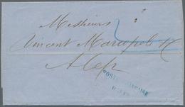 "Französische Post In Der Levante: 1865, Folded Letter Written In London Sent To Aleppo. ""POSTE FRANC - Levant (1885-1946)"