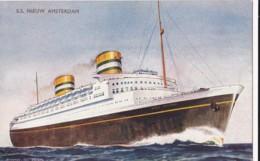 AO19 Shipping - S.S. Nieuw Amsterdam By Bernard Church - Steamers