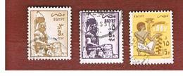 EGITTO (EGYPT) - SG 1577.1580 - 1985  ANCIENT ARTIFACTS  - USED ° - Egitto