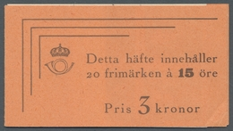 """Schweden - Markenheftchen: 1939, """"15 Öre Dr. Von Linne Perforated On Three Sides"""", Complete Mint Nev - Carnets"""