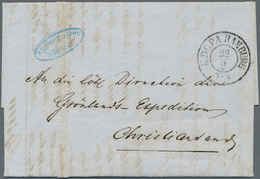 """Thematik: Arktis / Arctic: 1853: Entire Letter From Hamburg With """"K.D.O.P.A HAMBURG 22.2"""" (cds Of Th - Sonstige"""