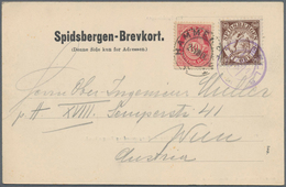"""Thematik: Arktis / Arctic: 1906, Offizielle Arktis-Privatpostmarke 10 Öre """"SPIDSBERGEN"""" EISBÄRENJÄGE - Sonstige"""