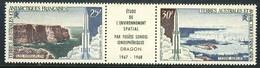 "1968 French Antarctic Territory MNH OG Strip Of 3 Stamps ""Arctic Scenes & Rockets"" Yv. # A16A - Terres Australes Et Antarctiques Françaises (TAAF)"