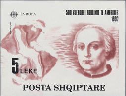 """Thematik: Persönlichkeiten / Personalities: 1992 """"COLUMBUS"""": Albanian Minature Sheet 5l. With Variet - Persönlichkeiten"""