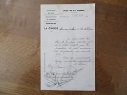 LA GROISE NOTE DE LA MAIRIE DU 7 DEC. 1938 LE MAIRE A MONSIEUR LE MAIRE DE BASUEL - Documenti Storici