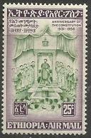 Ethiopia - 1956 Constitution Anniversary 25c MH*  .    Sc C44 - Ethiopia