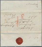 """Disinfection Mail: 1831, 28.Oktober, Dienstbrief """"L.D.S."""" (Lauenburgische Dienst-Sache) Von Reinbek - Gesundheit"""
