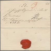 Disinfection Mail: 1831, 30.November, Dienstbrief Des Amtshauses Zu Traventhal/Reinfeld/Rethwisch An - Gesundheit