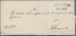 Disinfection Mail: 1831, 23.Oktober, Dienstbrief Von Stettin Nach Stargard Mit Rs. Sanitätsstempel U - Gesundheit