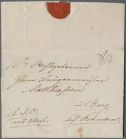 """Disinfection Mail: 1831, 18.November, Dienstbrief """"K.D.S. Mit Attest"""" Mit Vollem Inhalt Und Rs. Dien - Gesundheit"""