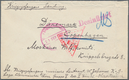 Disinfection Mail: 1916, POW Cover Of A Russian Lieutenant At Camp Kleinmünchen/Austria, Circular Ca - Gesundheit