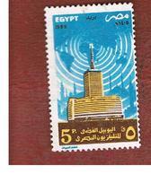 EGITTO (EGYPT) - SG 1603 - 1985 EGYPTIAN TELEVIISION   - USED ° - Egitto