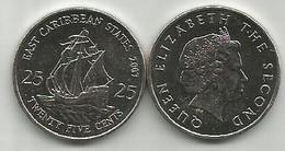 East Caribbean States 25 Cents 2007. High Grade - Caribe Oriental (Estados Del)