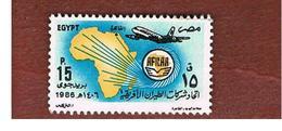 EGITTO (EGYPT) - SG 1629 - 1986 AFRICAN AIRLINES ASSOCIATION (BOEING)   - USED ° - Egitto