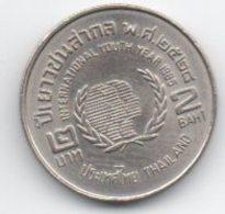 2 Baht 1985 International Youth Year - Tailandia