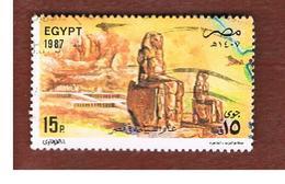 EGITTO (EGYPT) - SG 1666 - 1987 TOURISM: THEBES COLOSSI   - USED ° - Egitto