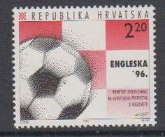 Croatia 1996 European Championship Football UK 1v ** Mnh (44109E) - Kroatië