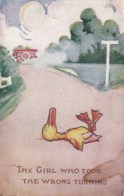 AL13 Artist Signed Fraser - Girl Who Took Wrong Turning - Duck - Illustrators & Photographers
