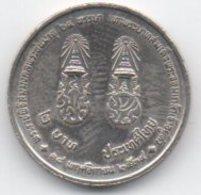 Tailandia 2 Baht 1992 64° King Birtday - Tailandia